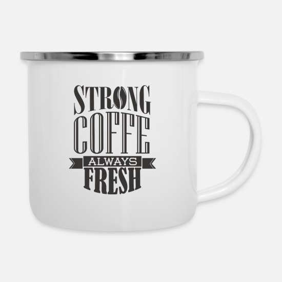 Coffee Bean Mugs & Drinkware - Coffee - Enamel Mug white