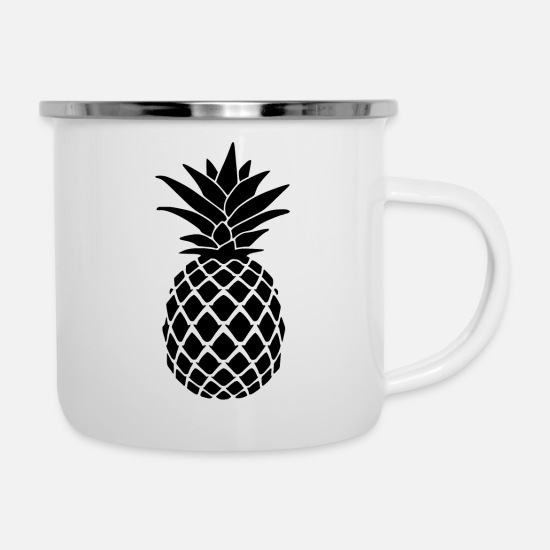 Plum Mugs & Drinkware - pineapple - Enamel Mug white