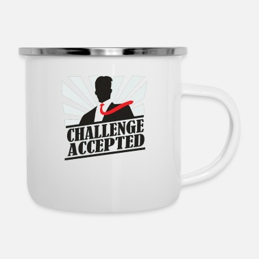 Challenge Accepted Challeng Accepted - Enamel Mug