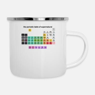 Periodic Table The Periodic Table Of Supernatural - Enamel Mug