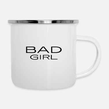 Witty Bad Girl - naughty - witty - mean - Enamel Mug