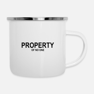 Emancipation Property Of No One - feminist - emancipation - Enamel Mug