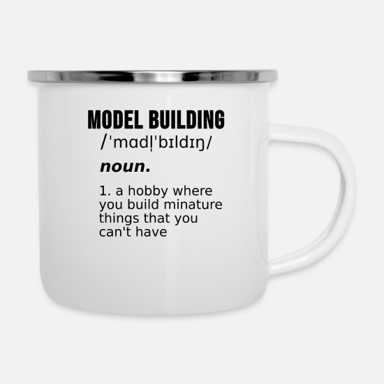 Model Mugs & Drinkware - Model Building Maker Models Train Gift - Enamel Mug white