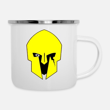 Roman Cross Soilder Warrior Roman - Enamel Mug