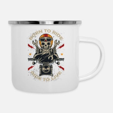 Born In BORN TO RIDE BORN TO LIVE - Camper Mug