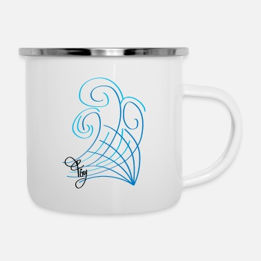 firy waves - Enamel Mug