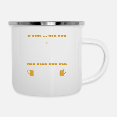 Herring A Girl Her Dog Her Beer And Her Jeep - Enamel Mug