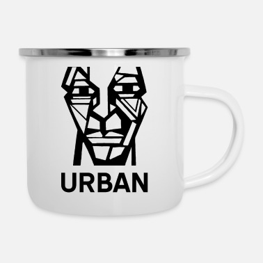 Cube Graffiti Cubistic Urban Man Head - Camper Mug