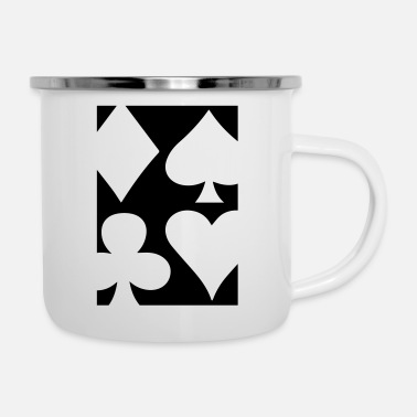 Pik Poker | Spade Heart Pik Diamond Casino Cards Gift - Enamel Mug