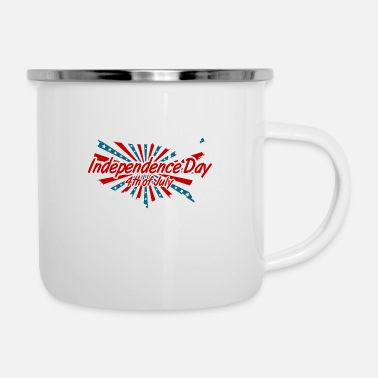 Obama Independence Day 4th of July - Enamel Mug