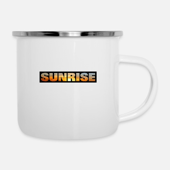 Skies Mugs & Drinkware - Sunrise - Enamel Mug white