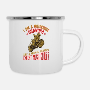 Hits I Am A Motocross Grandpa Funny Gift For Men design - Enamel Mug