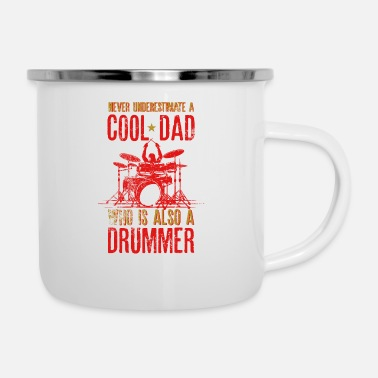 Performance Never Underestimate A Dad Cool Dad Who Is Also A - Enamel Mug