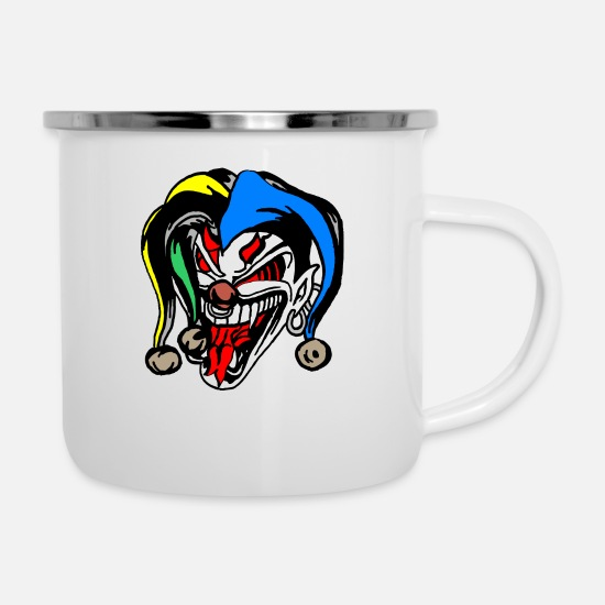 Devil Horns Mugs & Drinkware - Devil Card - Enamel Mug white