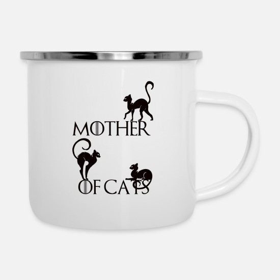 Mother's Day Mugs & Drinkware - the mother cats - Enamel Mug white