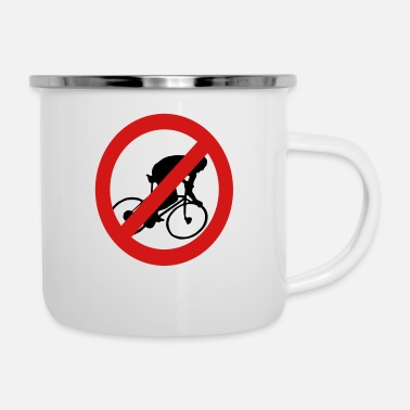 Prohibited Prohibit Bikes - Enamel Mug