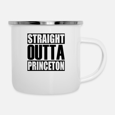Latest Design tagged Straight Outta Princeton - Enamel Mug