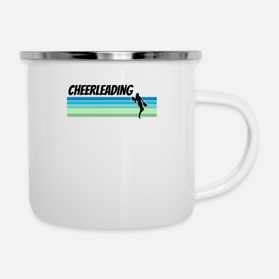 Cheerleading Mugs & Drinkware - Retro Cheerleading - Enamel Mug white