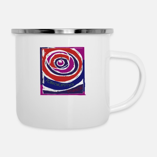 Block Mugs & Drinkware - Celebrate Swirl - Enamel Mug white