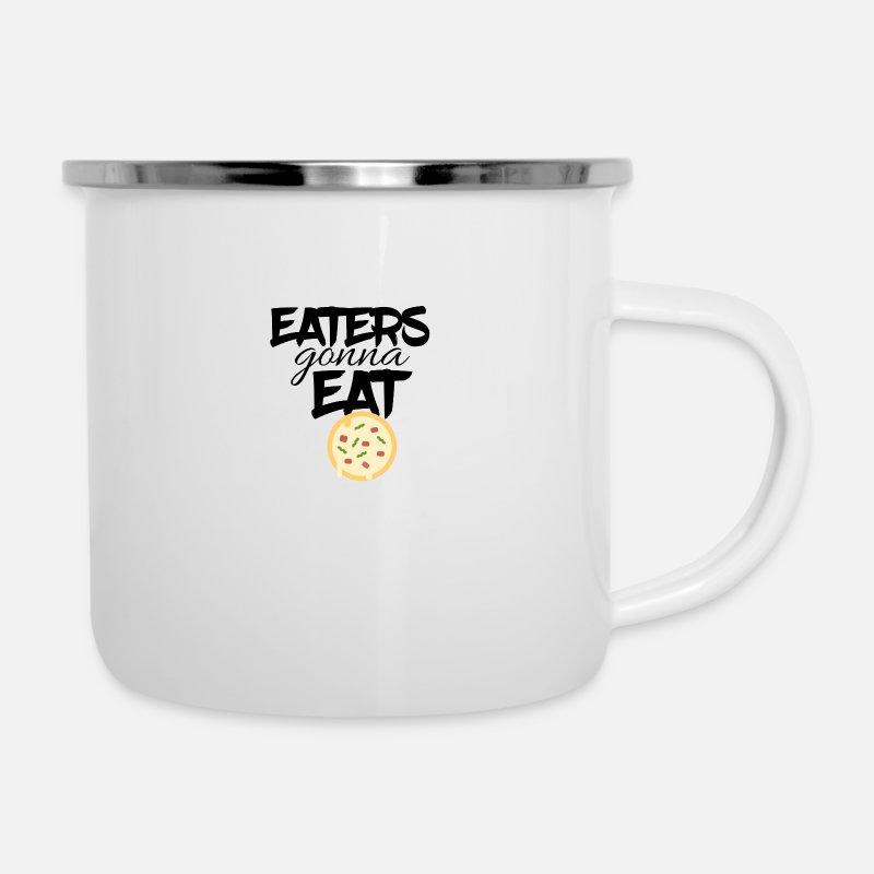 Shop Eater Enamel Mugs online | Spreadshirt