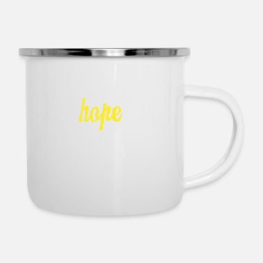 Here Hope lives here - Enamel Mug