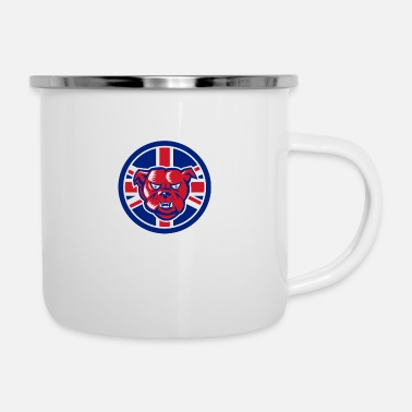 Union Jack British Bulldog Union Jack Flag Icon - Enamel Mug