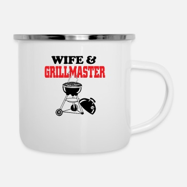 Grillmaster Wife and grillmaster - Enamel Mug