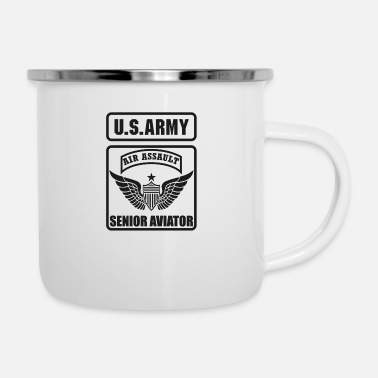 Army Aviation SENIOR AVIATOR US ARMY AIR ASSAULT - Enamel Mug