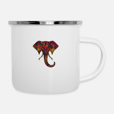 Colorful Elephant - Camper Mug