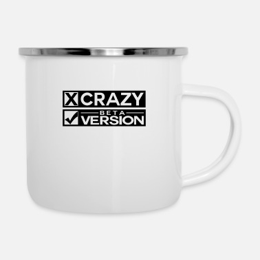 Quirk Crazy Beta Version Funny Shield - Enamel Mug