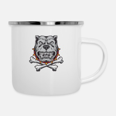Chain Bulldog anger - Camper Mug
