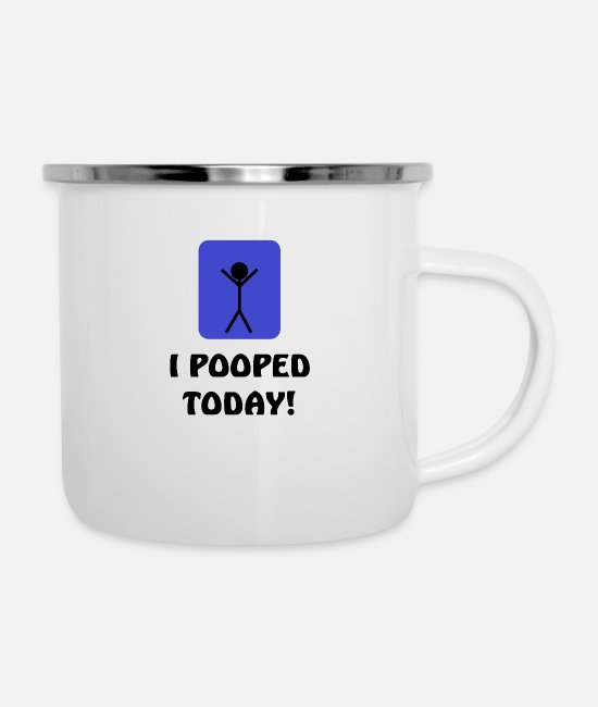 Ghastly Mugs & Cups - I've been shitting farting today disgusting and fu - Enamel Mug white