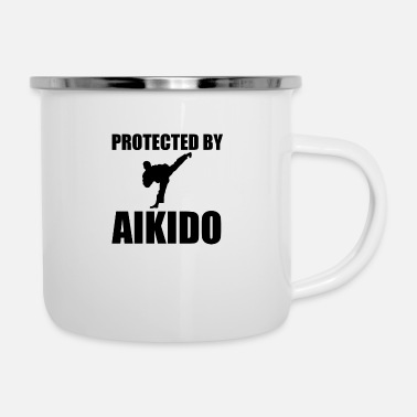 Protected By Aikido Funny - Enamel Mug