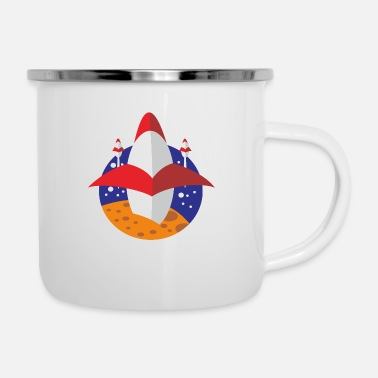 Space X Rocket space x - Enamel Mug