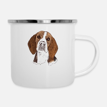 Beagle head for dog owners with this breed of dog - Enamel Mug