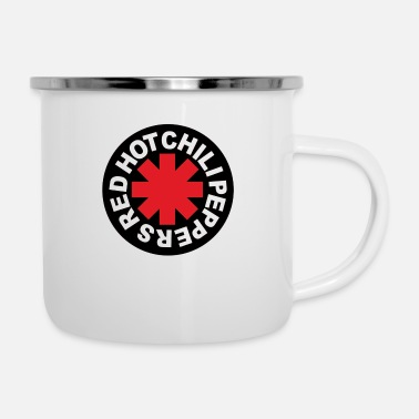 Band Poster RED HOT CHILLI PEPPERS Rock Band Merchandise - Enamel Mug