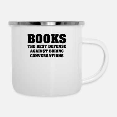 Nose Books The Best Defense Against Boring Conversation - Camper Mug