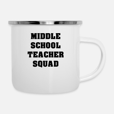School Middle School Teacher Squad - Enamel Mug