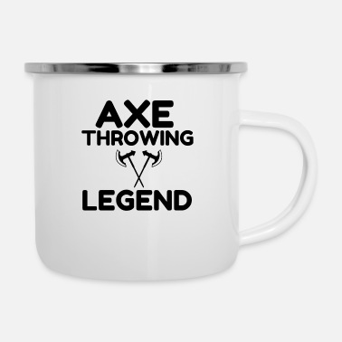 Lumberjack AXE THROWING LEGEND - Enamel Mug
