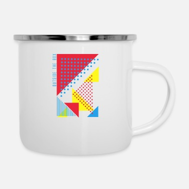 Lateral Thinker Outside The Box - Enamel Mug