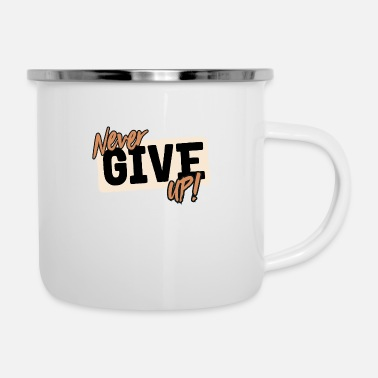 Tick never give up - Enamel Mug