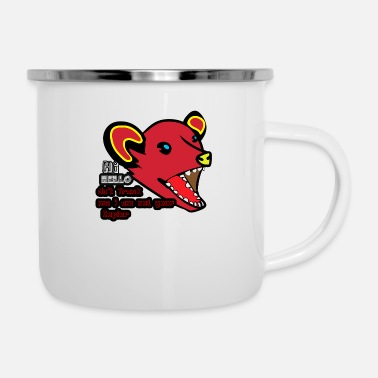 Note Clue hi hello do t track me i am not your copier - Enamel Mug