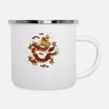 Chinese Chinese dragon embroidery - Enamel Mug