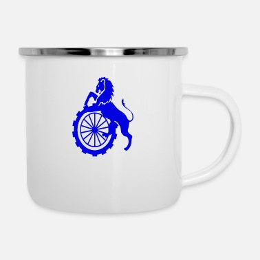 Wheel Blue lion wheel 8x8 - Enamel Mug