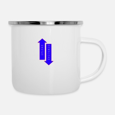Download UPLOAD DOWNLOAD - Enamel Mug