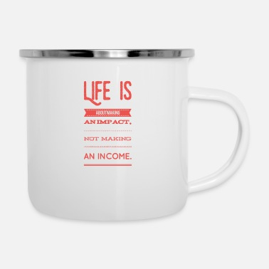 Reminder Life is hard compared to what - /positivice.com/ - Enamel Mug