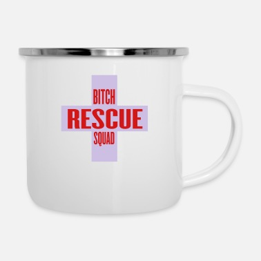 bitch rescue squad by wam - Enamel Mug