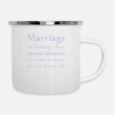 Marriage MARRIAGE IS... - Enamel Mug