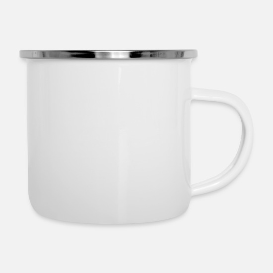 Count Mugs & Drinkware - Calories Don't Count - Enamel Mug white