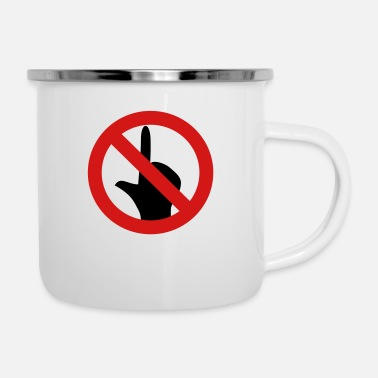 No Touching No Touch - Enamel Mug